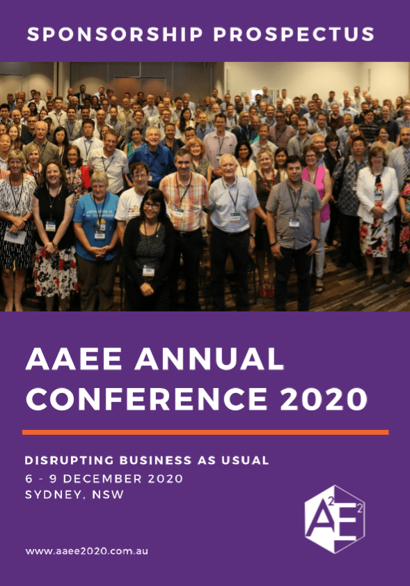 Brochure Example - AAEE2020 Conference