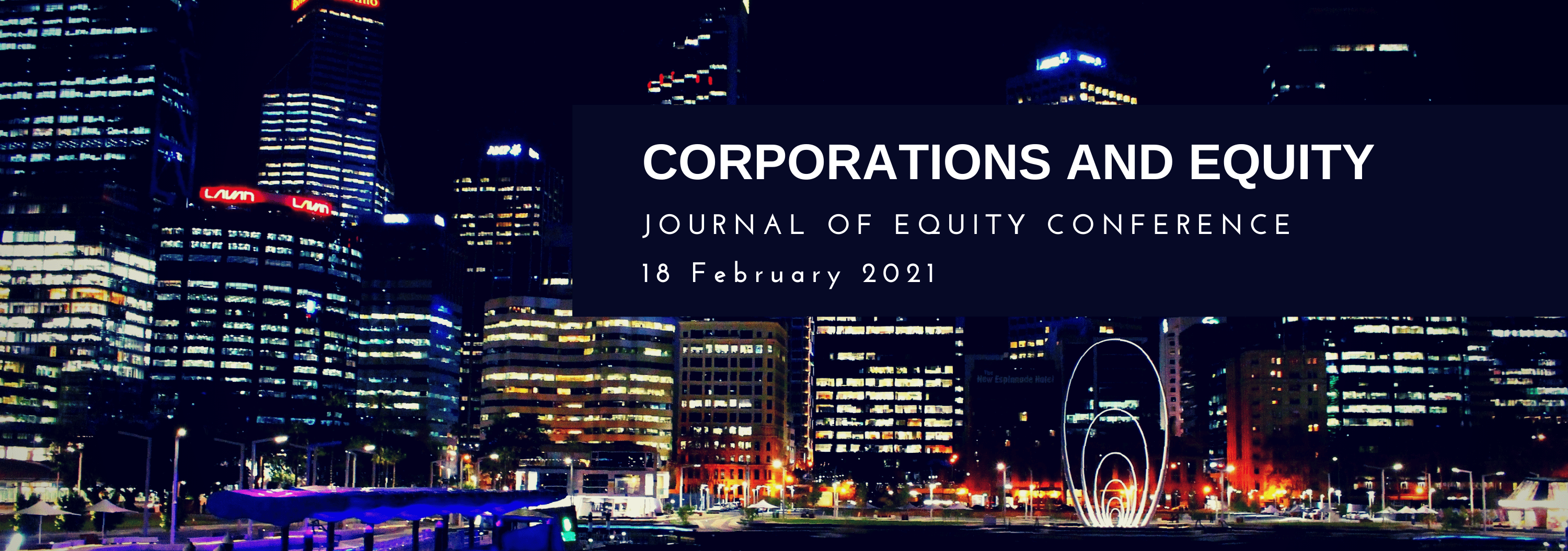 Corporations and Equity 2021 Conference Banner designed by Watermark Events Australia
