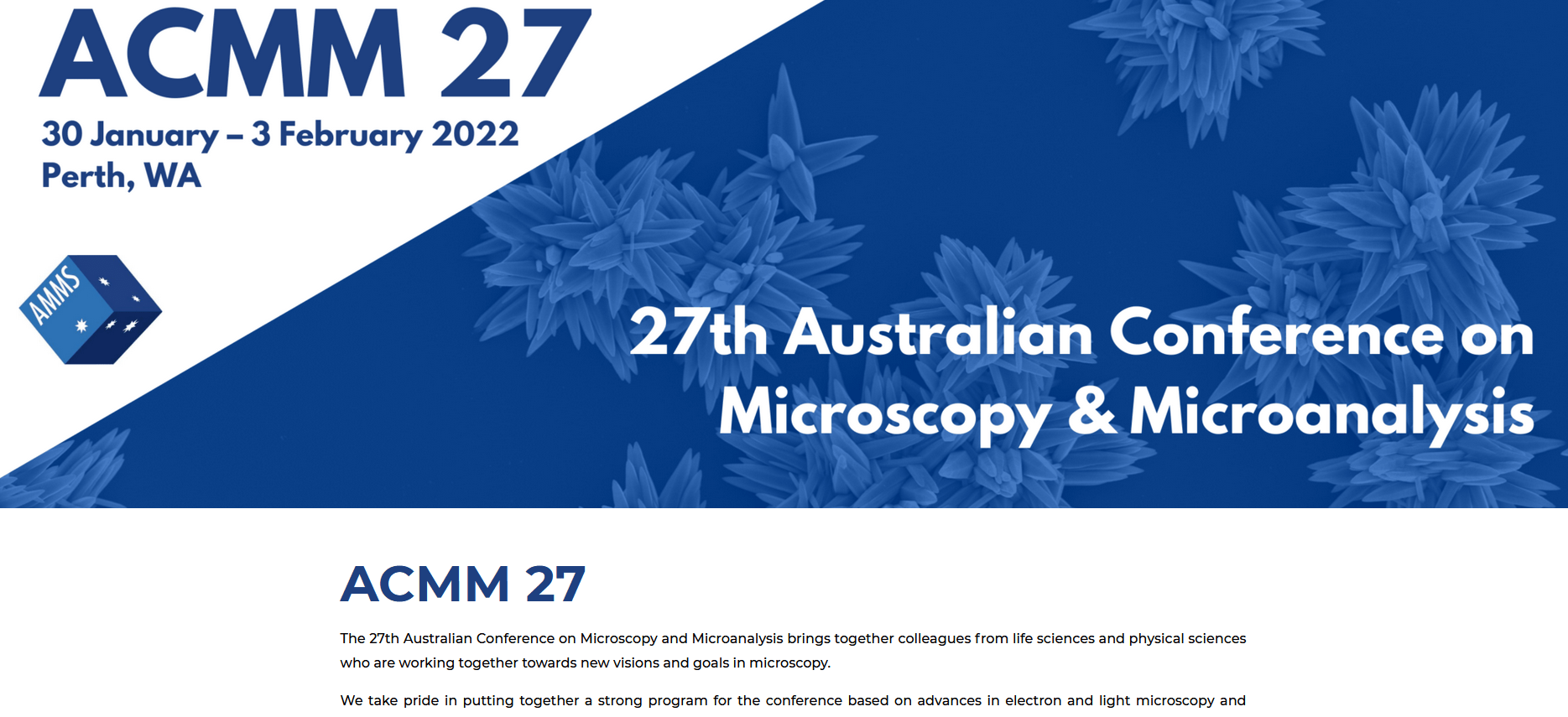 ACMM 27 Conference - Designed by Watermark Events Australia