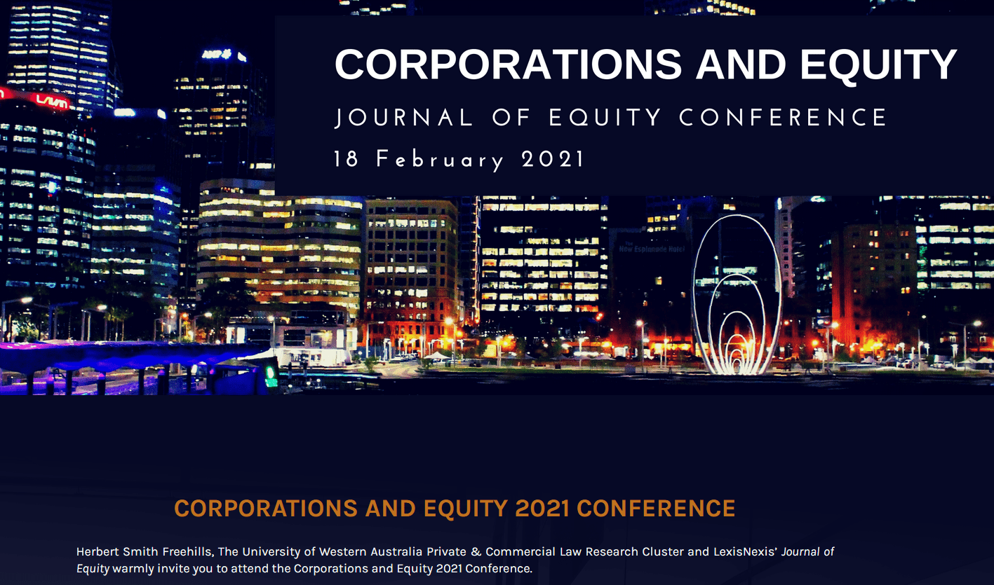 Corporations and Equity 2021 Conference - Designed by Watermark Events Australia